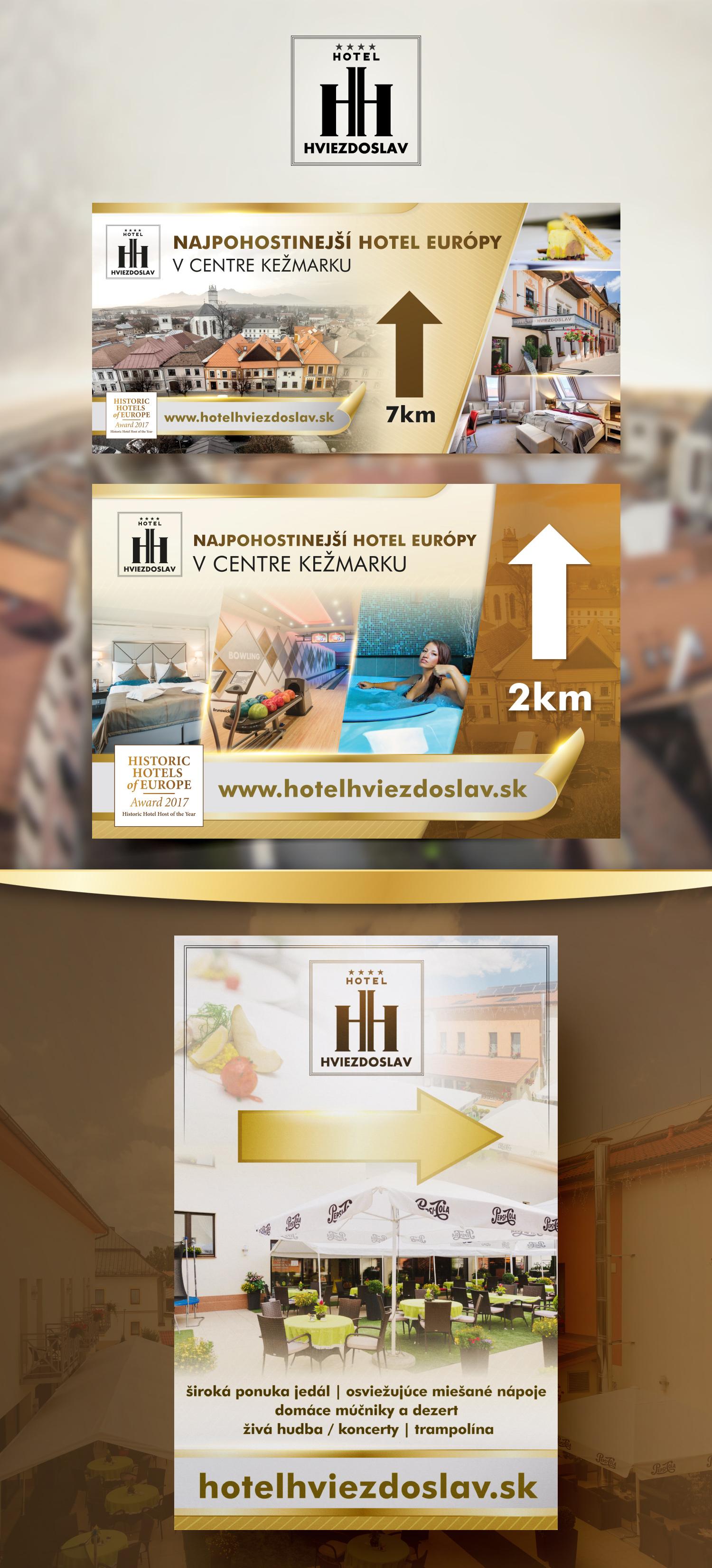 hotel graficke navrhy promo materialov, velkoplosna reklama