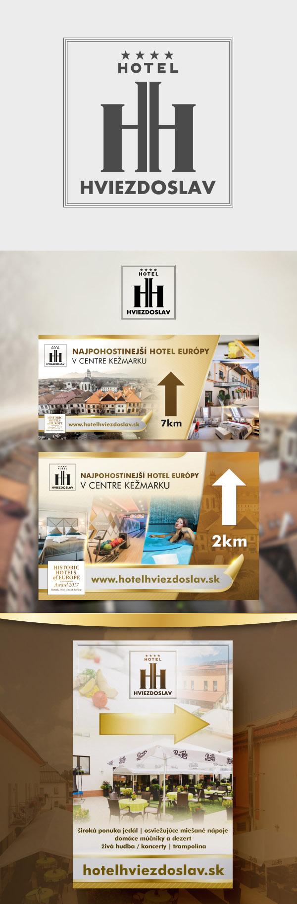 hotel graficke navrhy promo materialov, velkoplosna reklama>