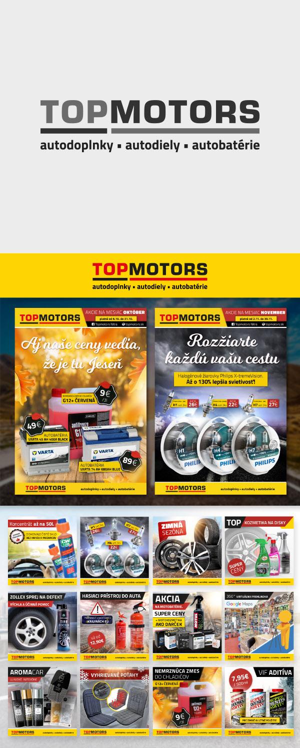 Topmotors Nitra, graficke spracovanie pre online marketing, socialne siete, web banner a plagaty>